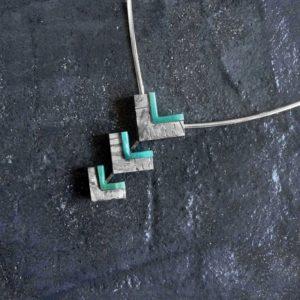 collar oro, meteorito y amazonita_alta joyeria