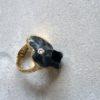 anillo oro-diamante y meteorito-alta joyeria-pieza unica