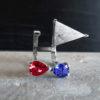 Rubelita y triángulo