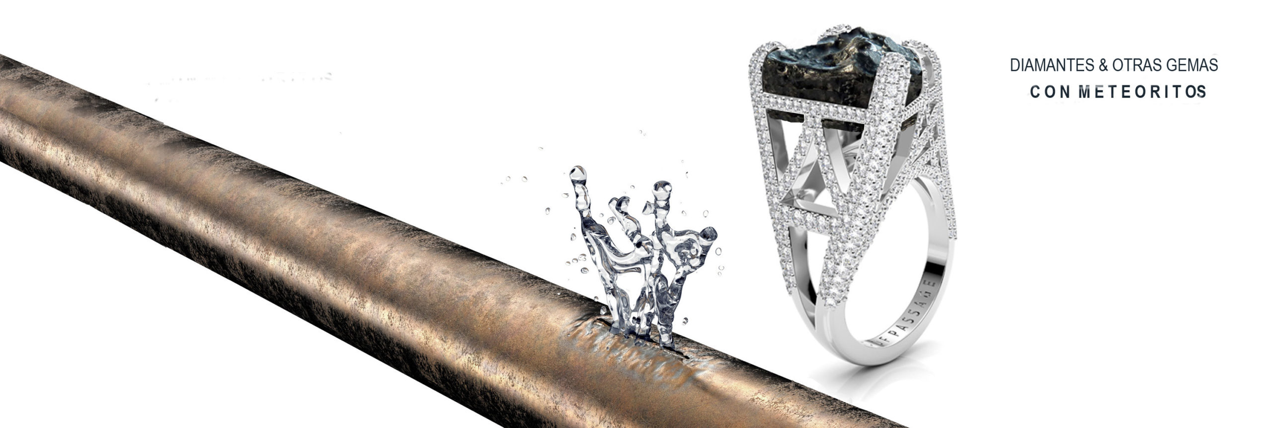 Diamantes y otras jemas con meteoritos
